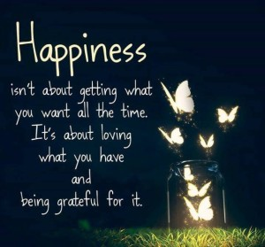 Happiness isn't about getting what you want